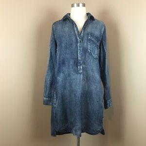 Cloth & Stone - Phthalo Blue XS Denim Dress